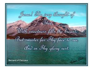 Jesus the Very Thought of Thee